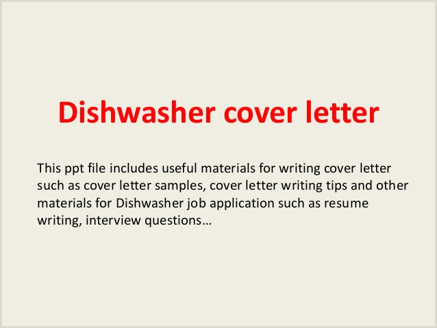 Dishwasher Cover Letter Canadian Writing Service for Getting Best Essays Best