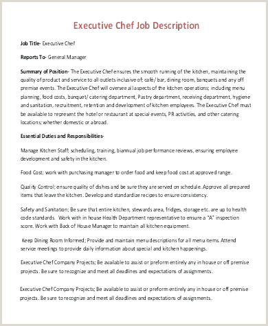 Job Description A Kitchen Manager