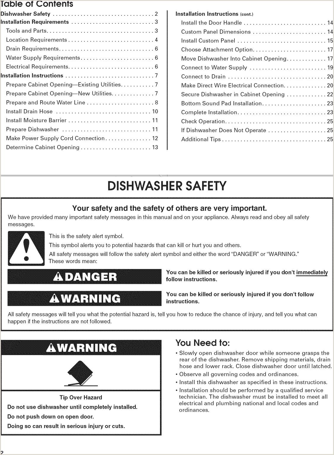 Dishwasher Utility Job Description Kitchenaid Kudc10fxbl1 User Manual Undercounter Dishwasher