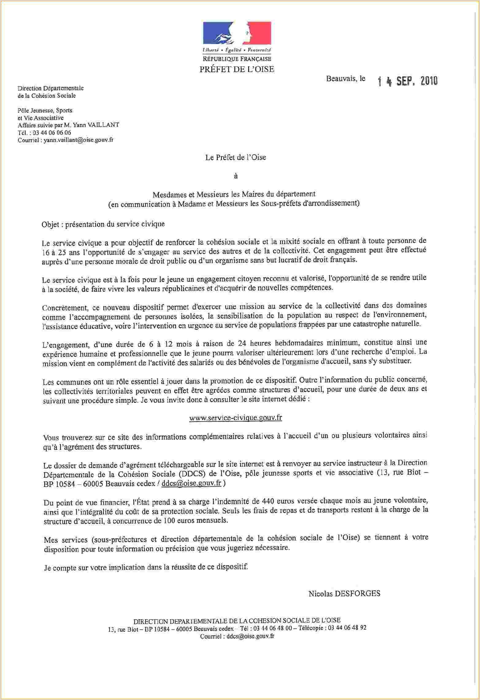 modele de lettre administrative civil 1 mod¨le de lettre