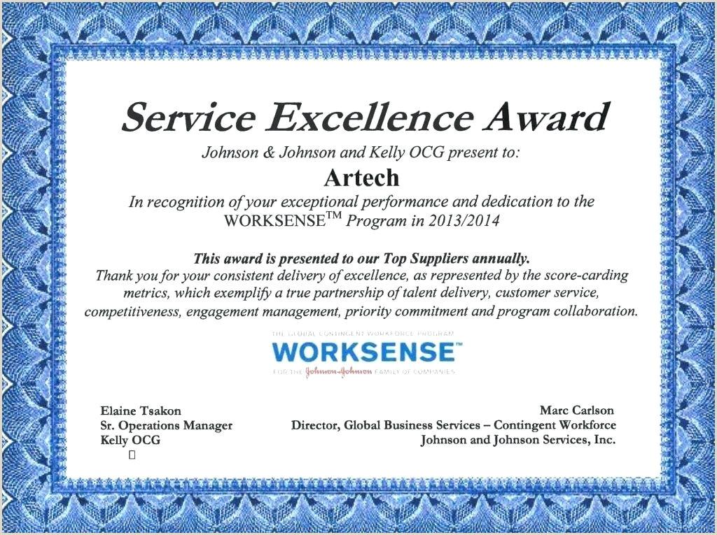 customer service award template