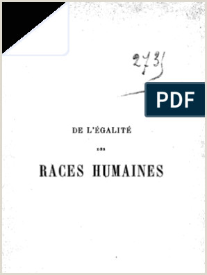 Division Classification Essays Firmin De L Egalite Des Races Humaines