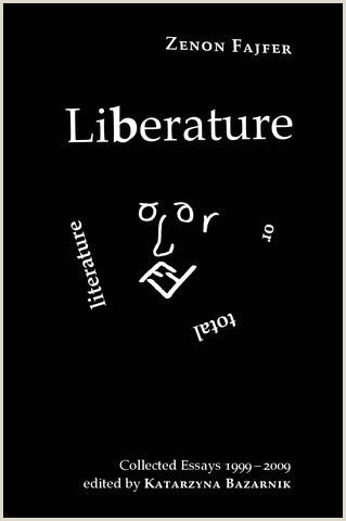 Zenon Fajfer Liberature Total Literature Collected