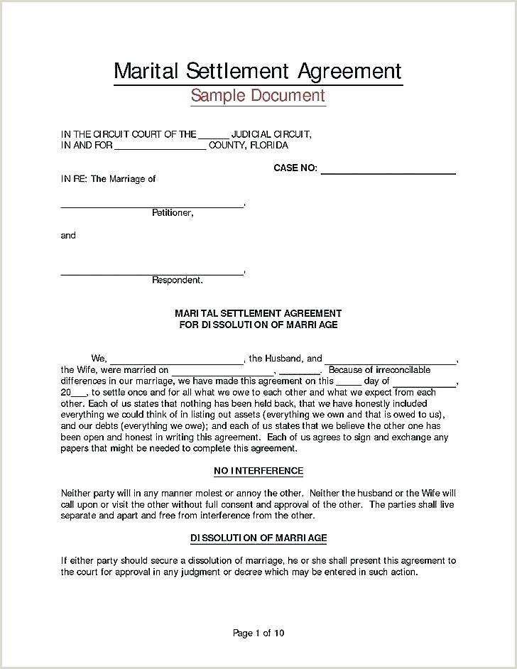 divorce settlement template