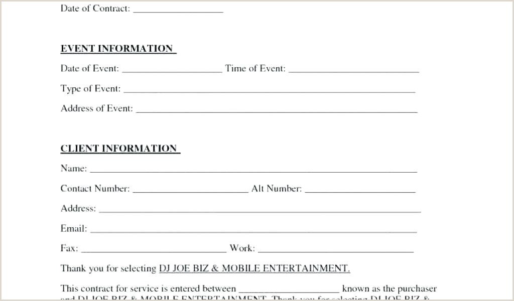 Download By Simple Contract Template Dj Booking Sample