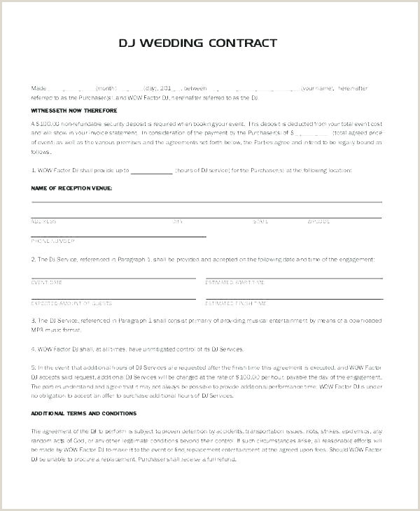 Service Contract Template Free Dj Contracts Templates Dj