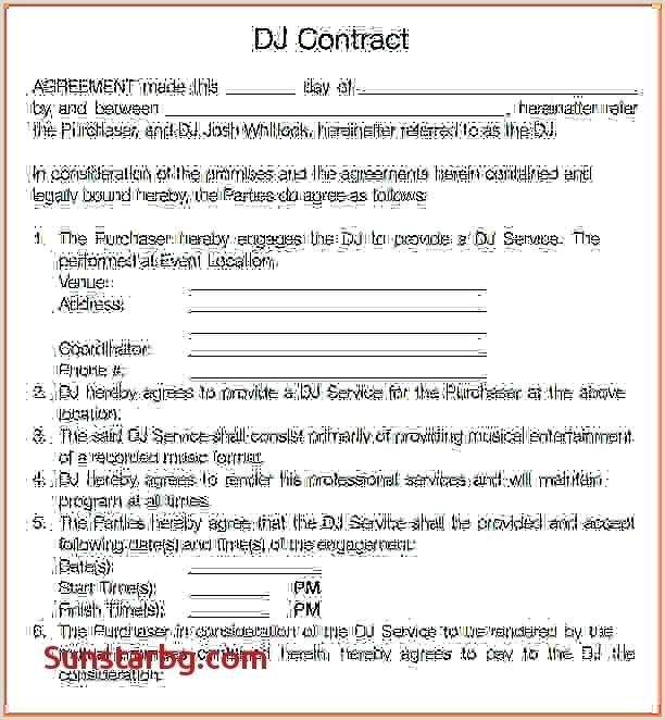 Dj Contract Template Microsoft Word Wedding Dj Contract Template – theredteadetox