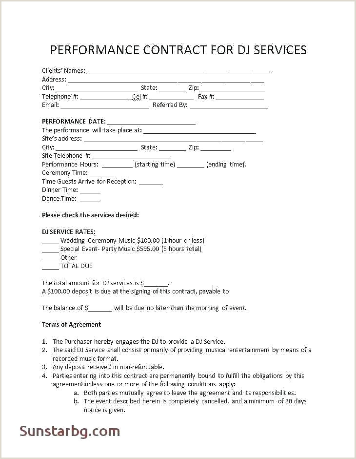 Dj Contracts for Weddings Dj Wedding Planner Template