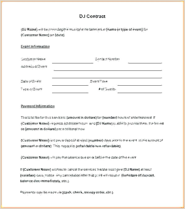 Wedding Contract Sample Contract Form 8 Free Documents In