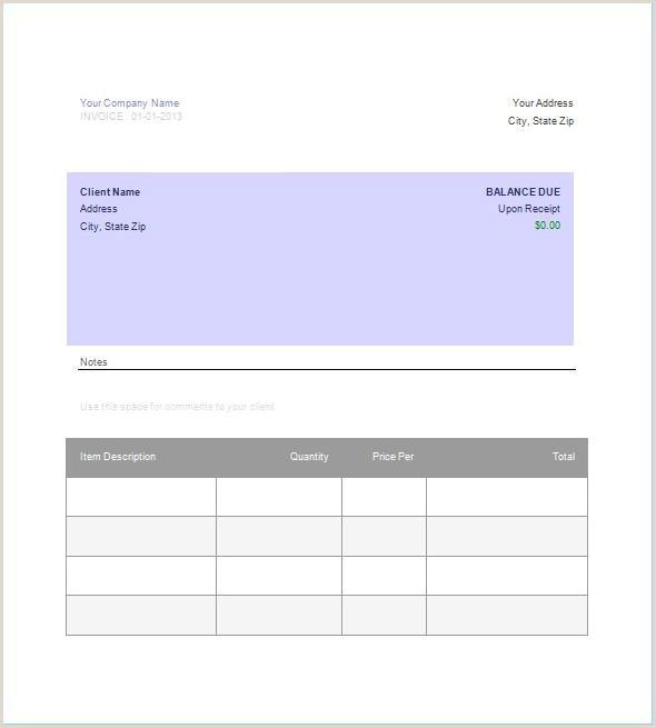 Blank Invoice Template Google Docs 3194