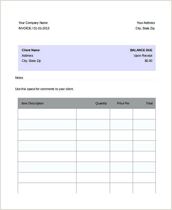 Dj Invoice Template Dj Resume
