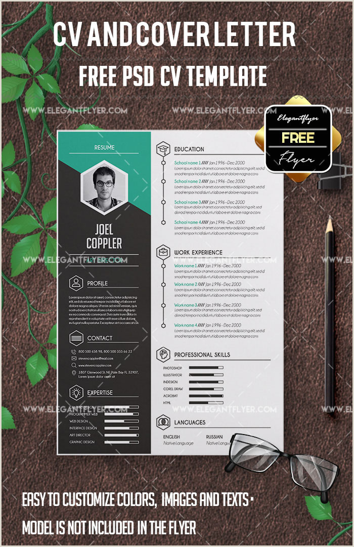 54 PREMIUM & FREE PSD CV RESUMES TO FIND A GOOD JOB