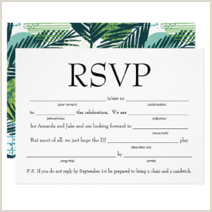 Fun Fill in the Blank RSVP w Song Request Invitation