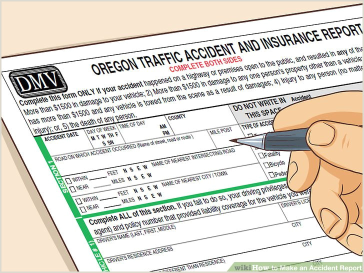 Dmv Statement Of Facts 3 Ways to Make An Accident Report Wikihow
