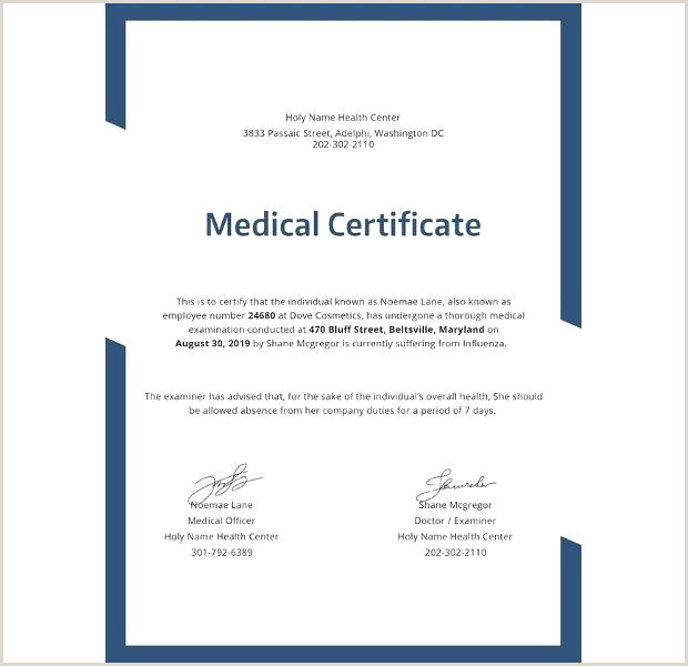 Doctor Certificate Templates Free Fake Medical Certificate Template – Lesquare