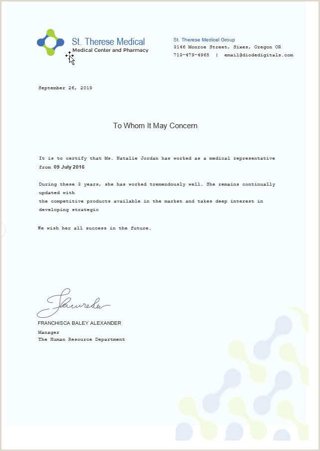 Medical Experience Certificate Template n