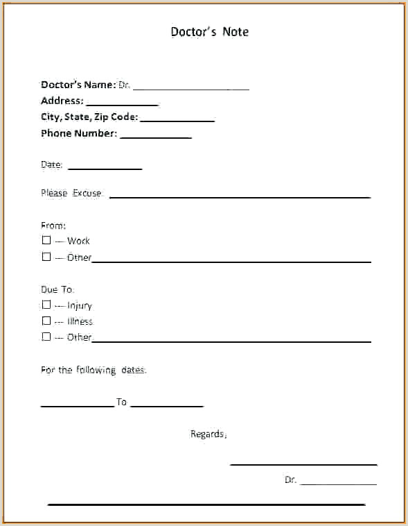 Doctor Letter for School Excuses Doctors Note Template School Fake Dentist for Sample Doctor