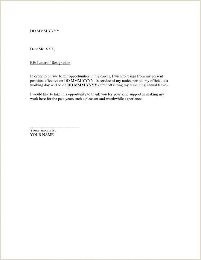 Letterhead Format Doc Resignation Letter Template Formal