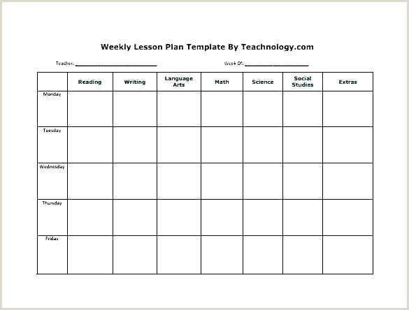 Dog Training Lesson Plan Template Free Weekly Lesson Plan Template Elegant Word Editable