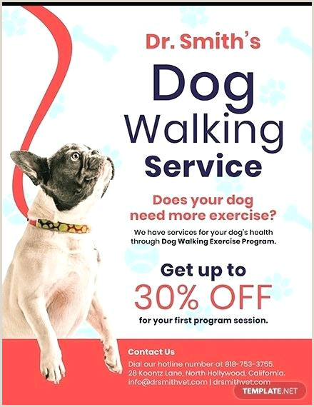Dog Walking Flyer Template Walker Free For Toddlers Sewing