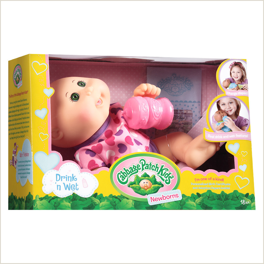 CABBAGE PATCH KIDS Drink N Wet Caucasian Doll 11 Inch