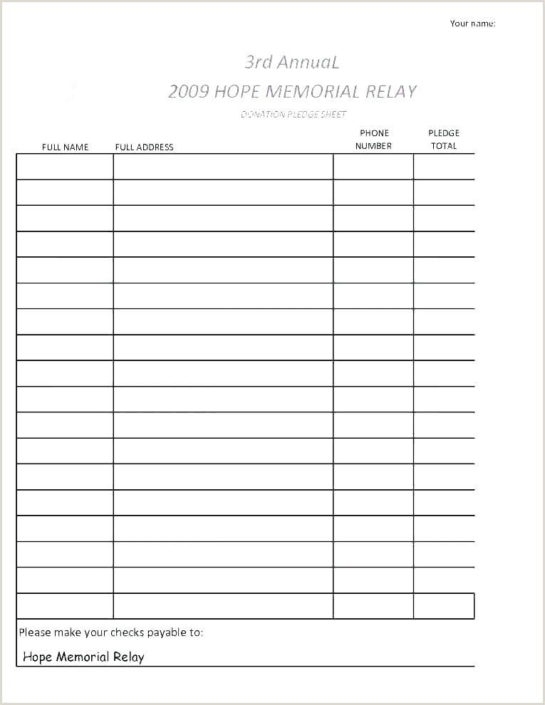 Sponsor Sheets For Fundraising Sponsorship Form Template