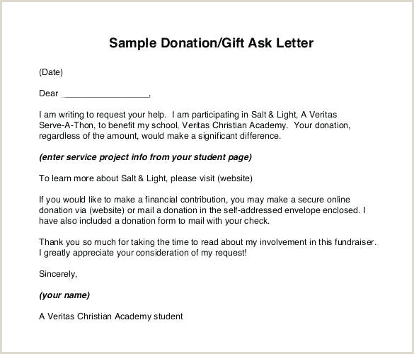 giving donation letter template