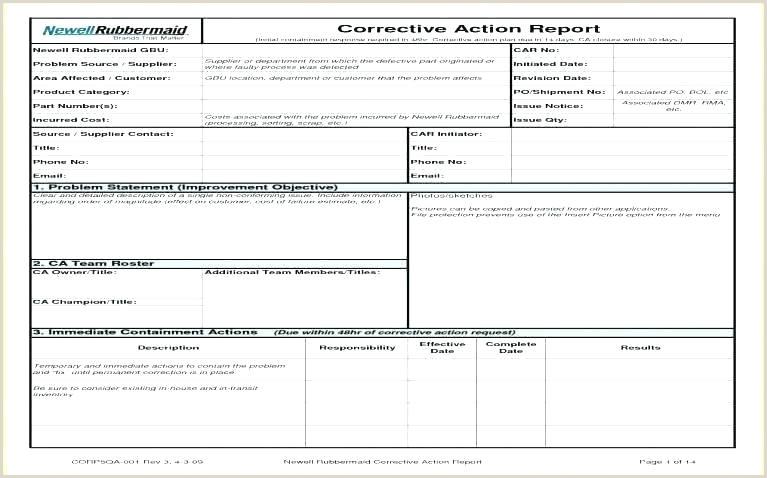 Dot Corrective Action Plan Template Safety Corrective Action Plan Template