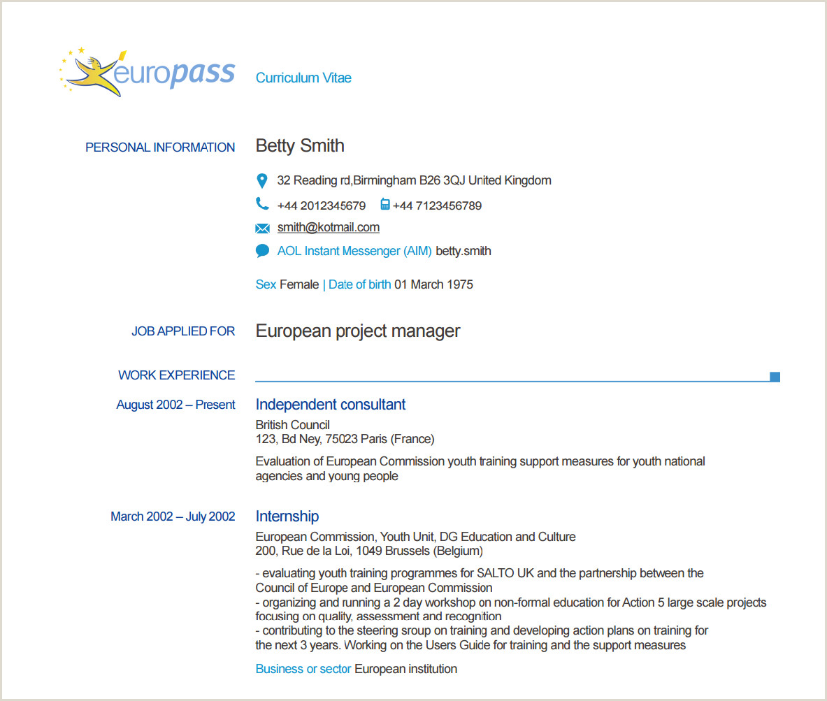 Download Europass Cv format Romana Home