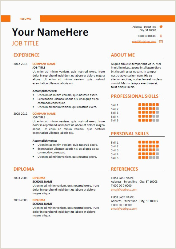 Download Latest Professional Cv format Inspirational Cool Resume Templates Free Download