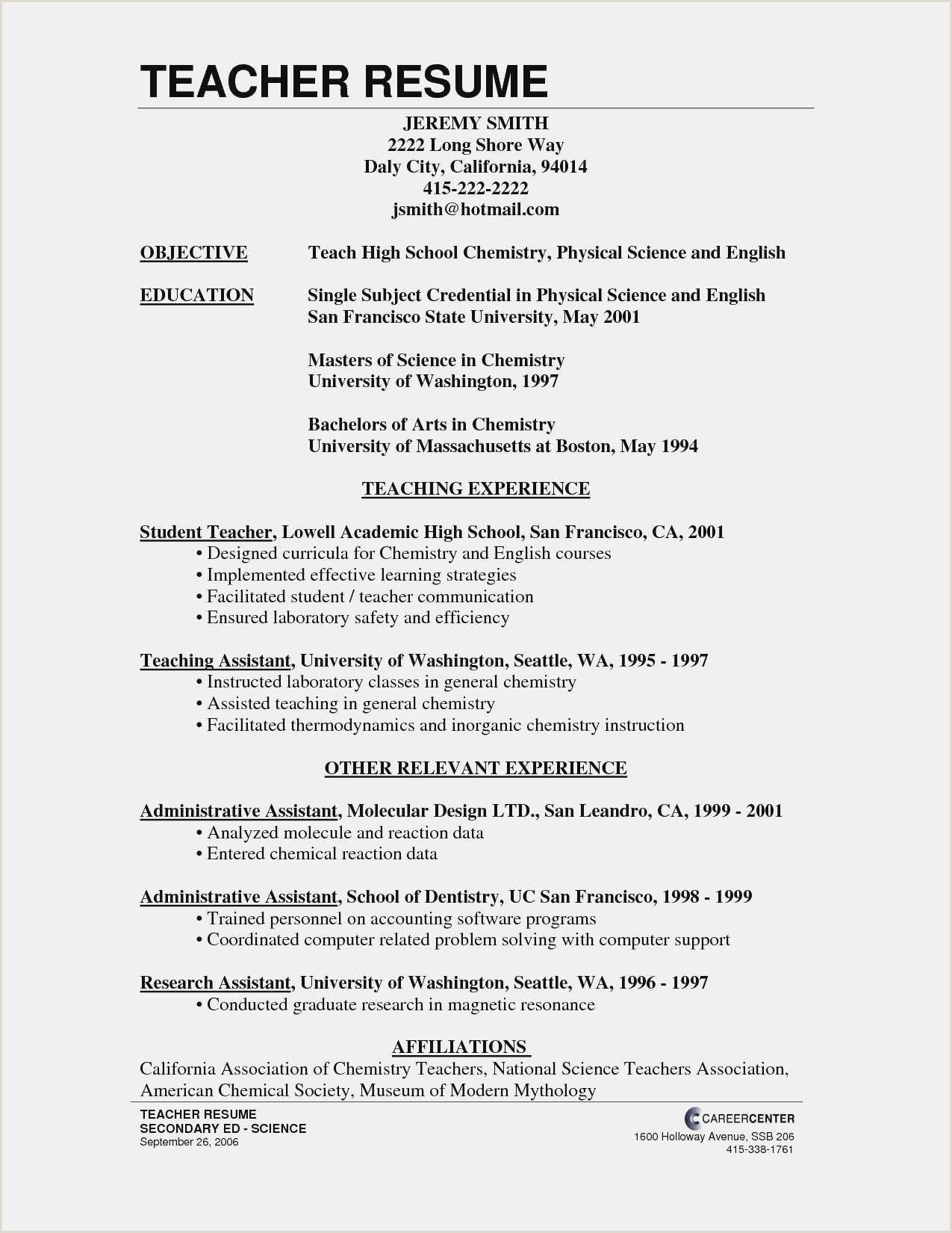 Free Download 54 Microsoft Word Resume Templates New
