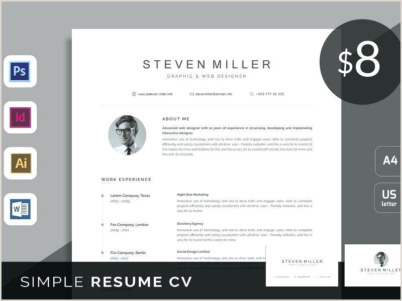 Modern Resume Template Word Clean Free Download Re 2013