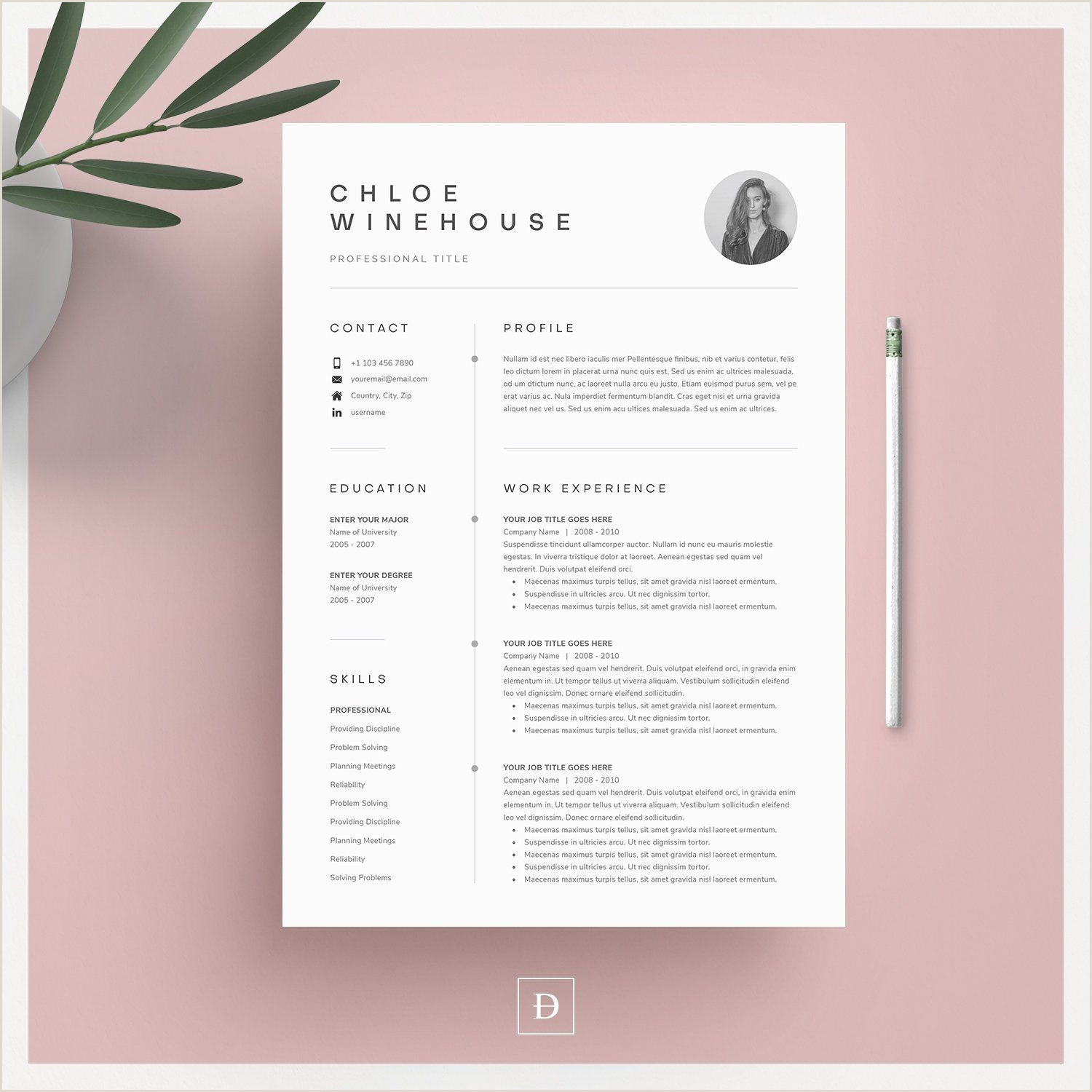 Download Modern Cv Format In Ms Word Pin On ✨d E S I G N