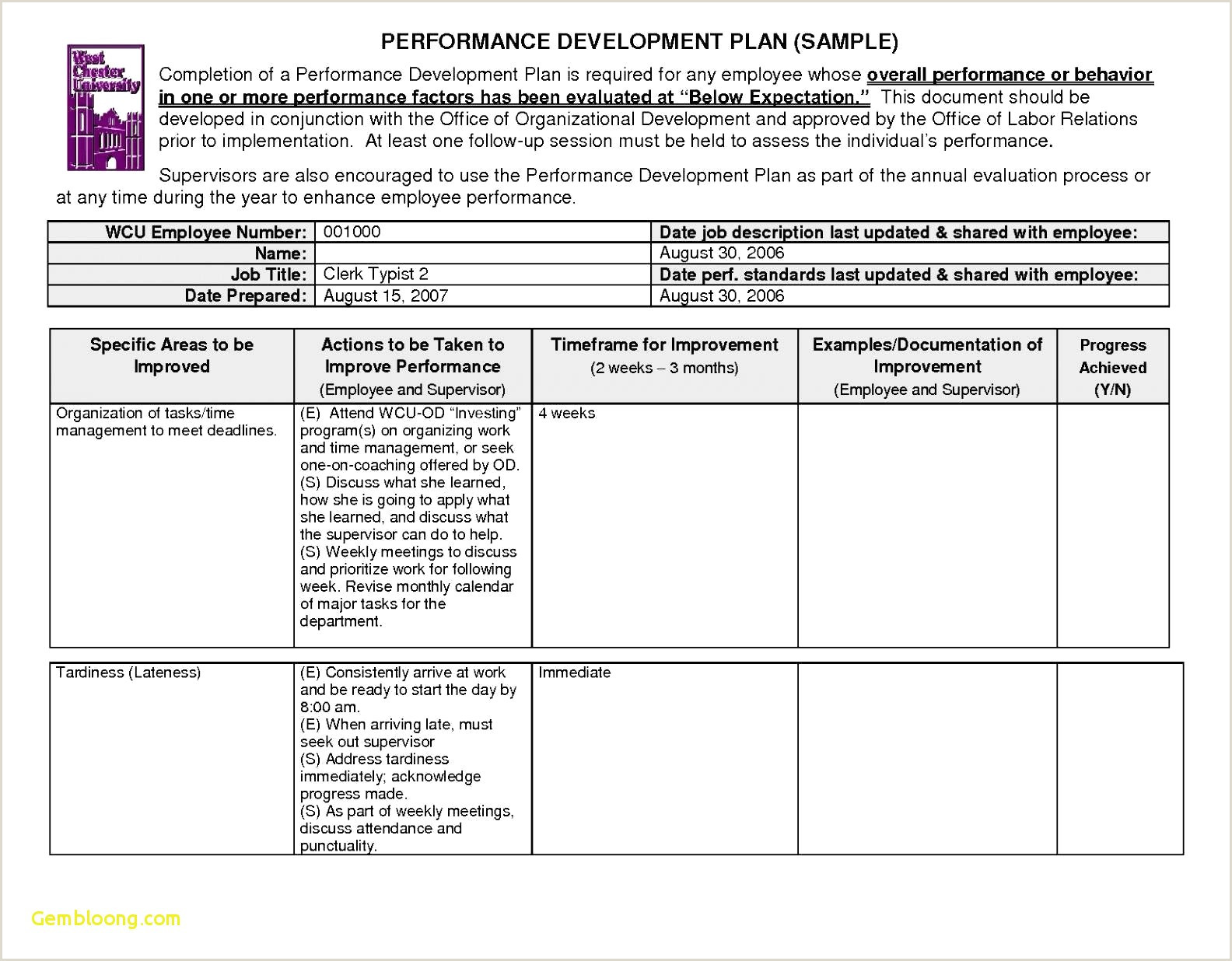 General Permit To Work Form Template Contractor