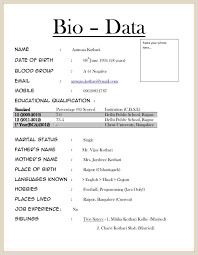 Image result for bio data word format