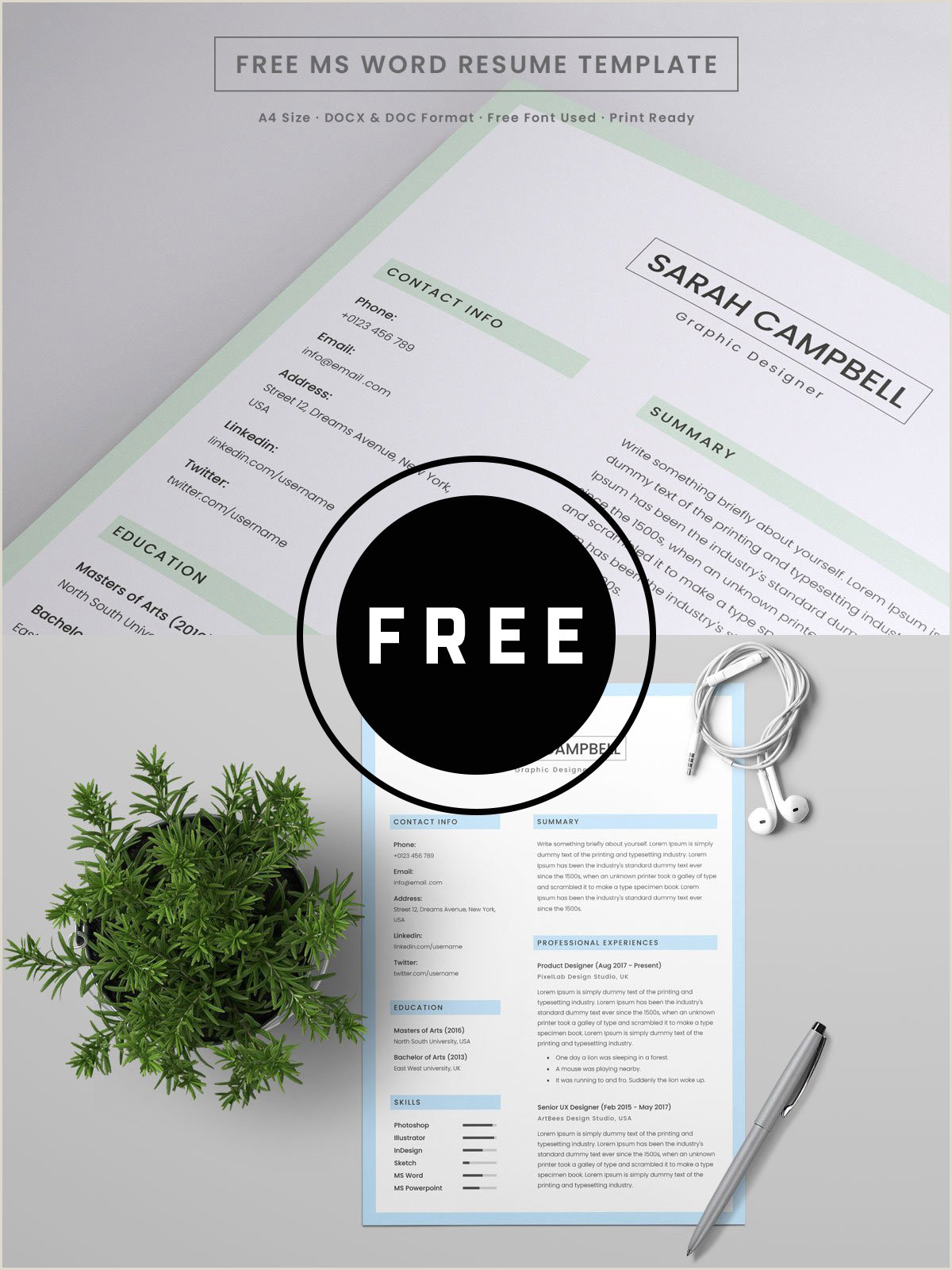 Download Template Cv format Cdr 98 Awesome Free Resume Templates for 2019 Creativetacos