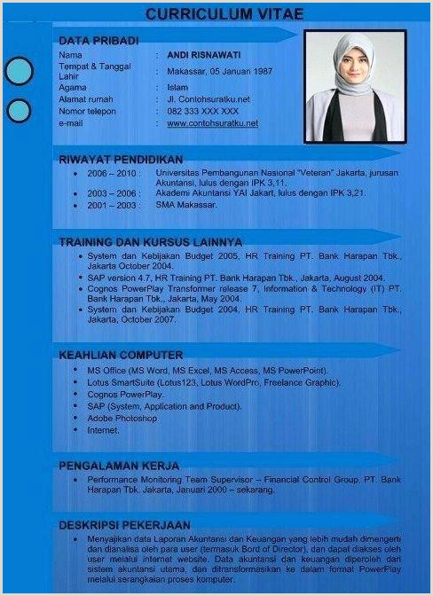 Download Template Gratis Resume Template Cv Menarik Cdr