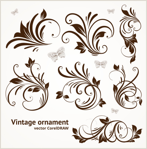 Free Download Vector Vintage Ornament Format CorelDRAW cdr
