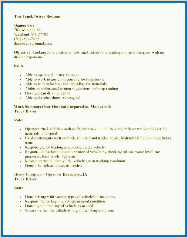 Driver Resume Examples Lovely Sample Delivery Driver Resume