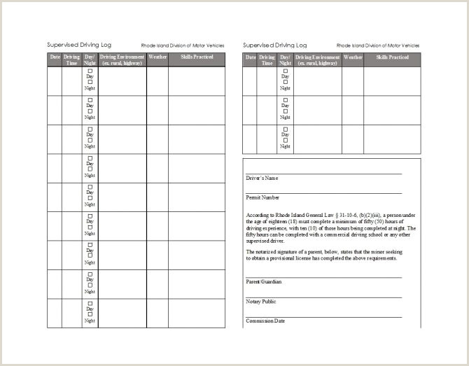 Driving Log Template Printable Drivers Daily Log Books Templates Examples