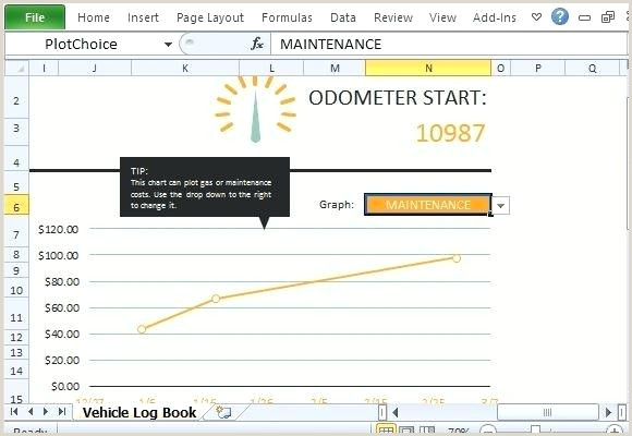 Vehicle Fuel Log Template Calculate Mileage And Expenses