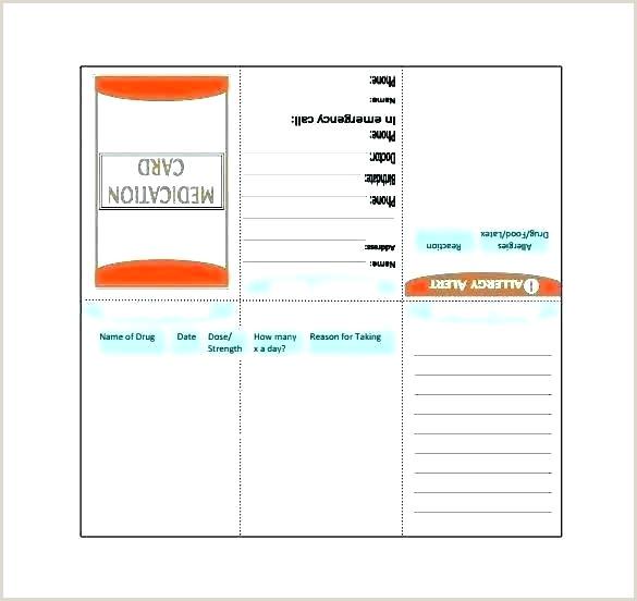Drug Card Template Microsoft Word Work Id Template