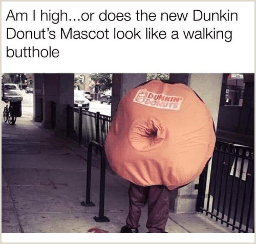 Am I Highor Does the New Dunkin Donut s Mascot Look Like a