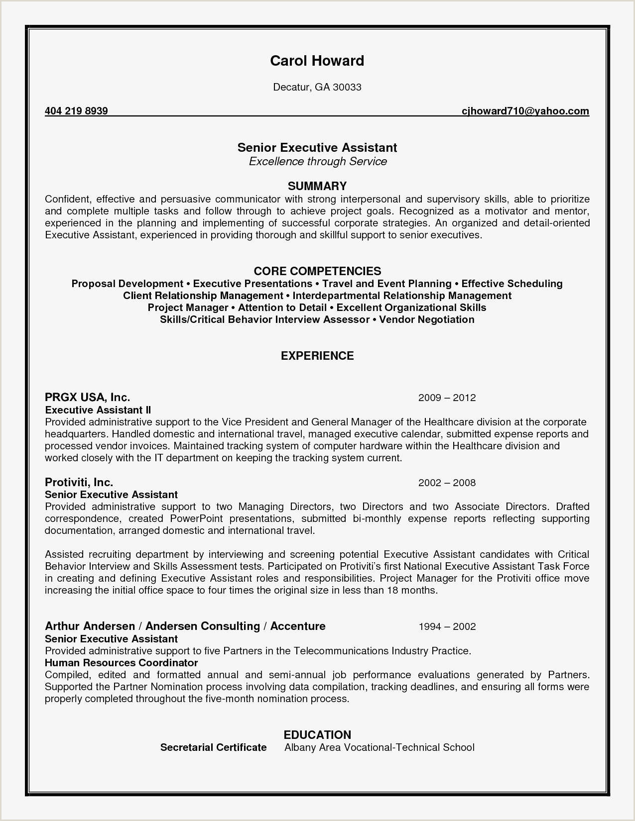Early Childhood Resume Examples Cv Cadre Dirigeant Magnifique Simple Job Resume Examples