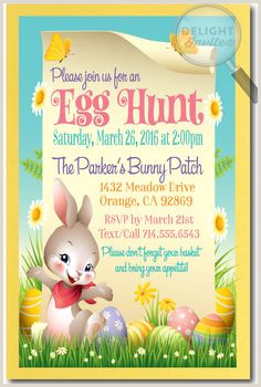Easter Potluck Invitation Wording 35 Best Easter Party Invitation Images In 2017