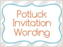 Easter Potluck Invitation Wording 7 Best Potluck Invitation Images
