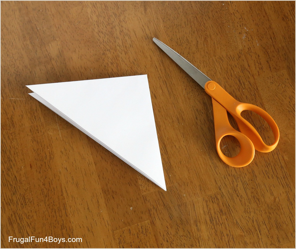 Easy Paper Snowflakes for Kindergarten How to Cut and Fold Awesome Paper Snowflakes Frugal Fun