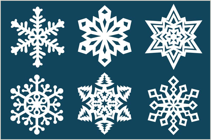 Easy Paper Snowflakes for Kindergarten Paper Snowflake Templates