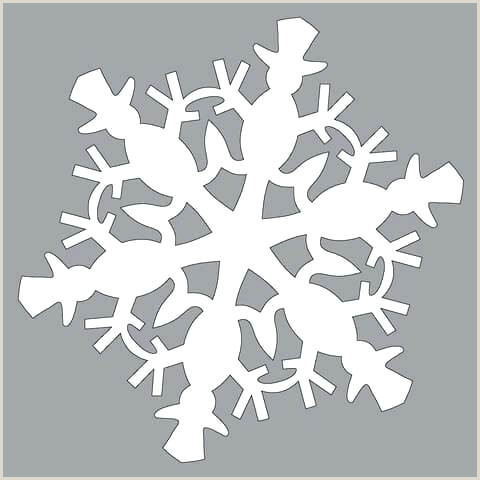 Easy Paper Snowflakes for Kindergarten Snowflake Cutouts Template – thelittleflames