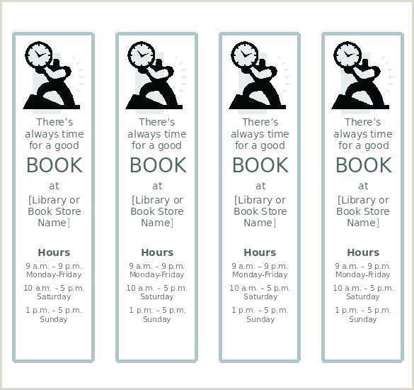 editable bookmark template free